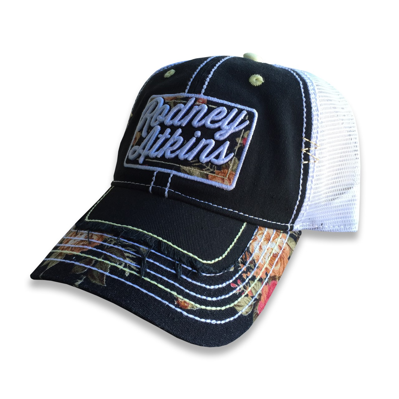 Floral Mesh Hat